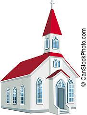 comté, peu, chrétien, église