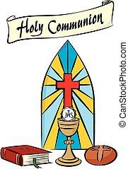 comunión, santo, primero