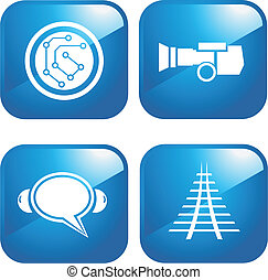 comunicação, ícones