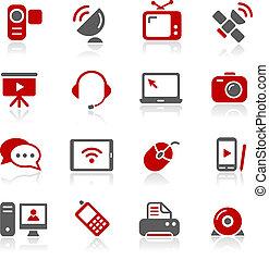 comunicação, ícones, --, redico, serie