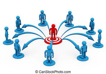 comunicação, conceito, negócio