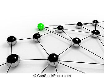 comunicação, conceito negócio