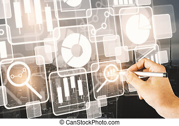 comunicação, conceito, tecnologia, inovação