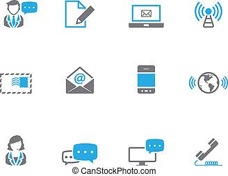 comunicação, duotone, -, ícones