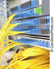 comunicação, e, internet, rede