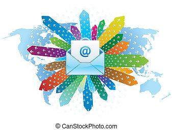 comunicação, email