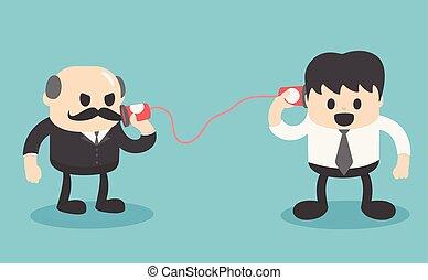 comunicação, entre, pessoas negócio