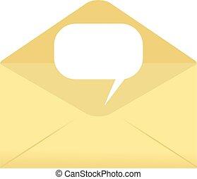 comunicação, envelope