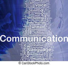 comunicação, fundo, conceito