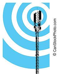comunicação móvel, mastro