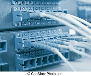 comunicação, rede,  Internet