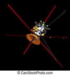 comunicação, satélite