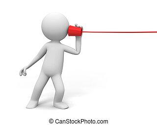 comunicação, telefone