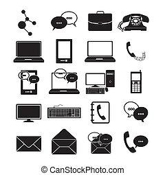 comunicações, ícones