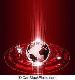comunicações, global, tecnologia