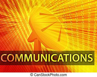 comunicações, ilustração