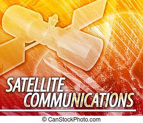comunicações satélite, conceito abstrato, ilustração digital
