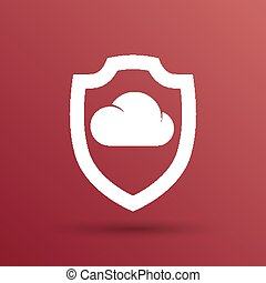 comunicación, almacenamiento, protección,  internet, nube, icono