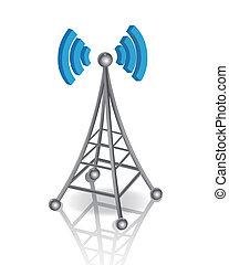 comunicación, antena