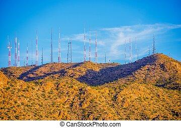 comunicación, antenas