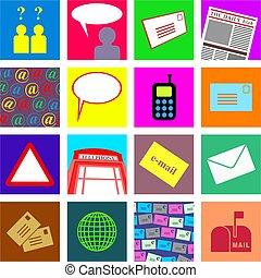 comunicación, azulejos