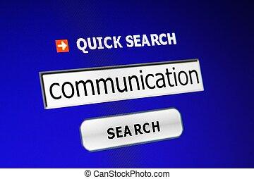 comunicación, búsqueda