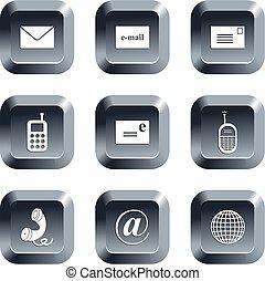 comunicación, botones