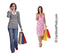 comunicación, compras