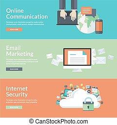 comunicación, conceptos, en línea