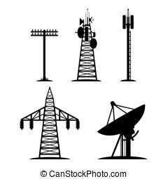 comunicación, construcciones, Conjunto