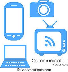 comunicación de la tecnología, iconos