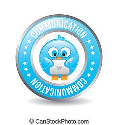comunicación, diseño, pájaro