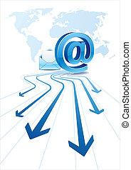 comunicación, email