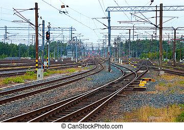 comunicación, ferrocarril
