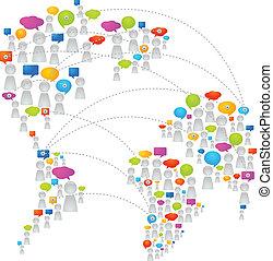 comunicación, global