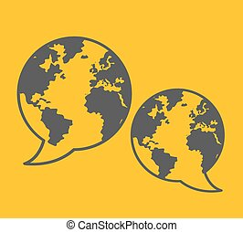 comunicación global, ilustración