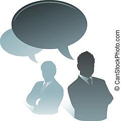 comunicación, hombre de negocios