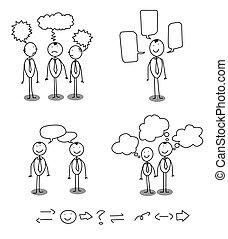 comunicación, hombre