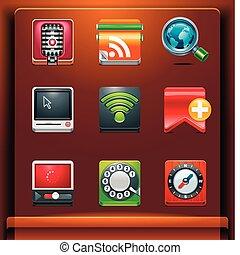 comunicación, iconos
