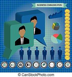 comunicación, infographic, empresa / negocio