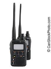comunicación, manera, radio, dos, dispositivos