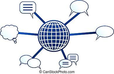 comunicación, molécula