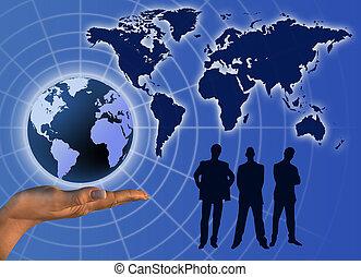 comunicación, negocio global