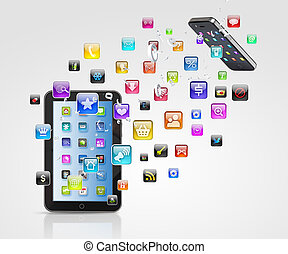 comunicación, tecnología moderna