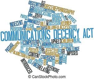 comunicaciones, decencia, acto