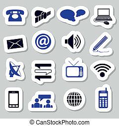 comunicazione, adesivi