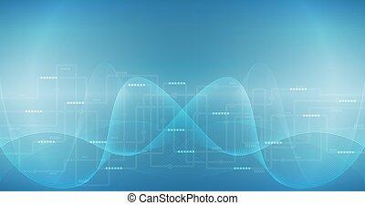 comunicazione, astratto, technoloty, collegamento, vettore, fondo, internet, concept.