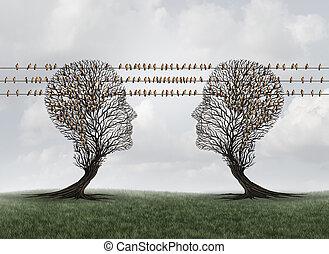 comunicazione, collegamento, rete