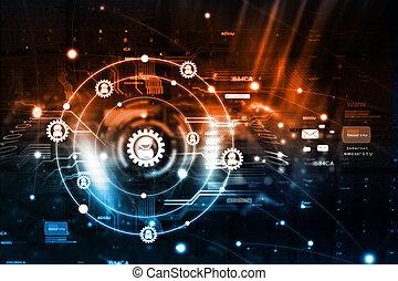 comunicazione, concetto, fondo, internet