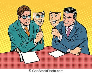 comunicazione, dialogo, disingenuous, affari